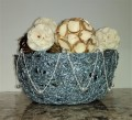 Basket Made With Left Over Yarn