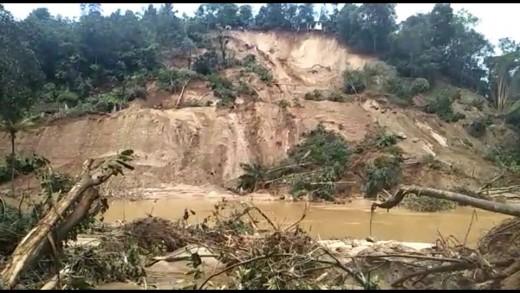 Another scene of landslide