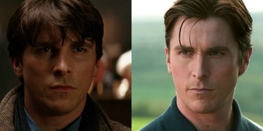 Bruce Wayne at the start of Batman Begins(left) Compared to the end(right)