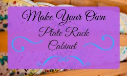 How to Build Your Own Plate Rack Cabinet