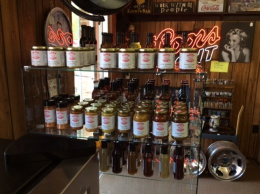 Rusty Jack's Man Cave Store (featuring their Salsas and Sauces) in Hubbard, Ohio
