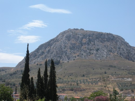 View of Acrocorinth