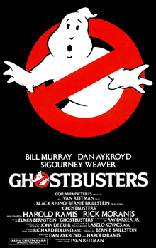 Original Ghostbusters theatrical release poster.