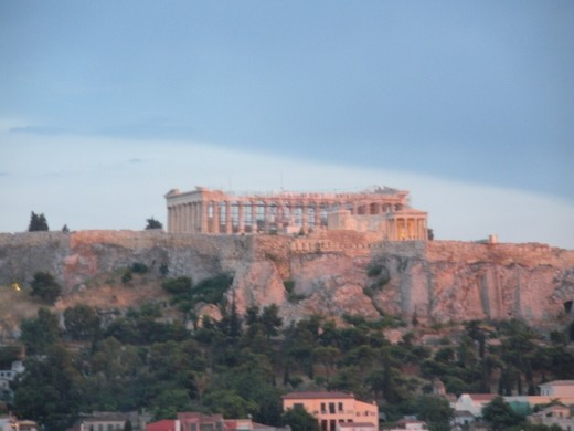 View of Acropolis, Parthenon Center