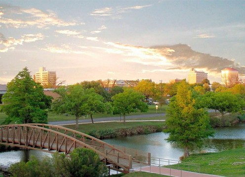 The Concho River in Downtown San Angelo