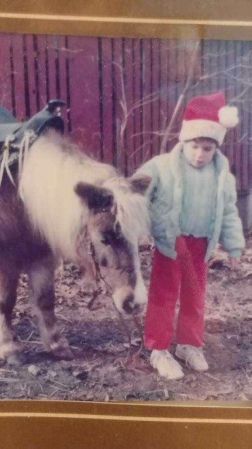 This is my very first pony, her name was Jill. I had Jill before I even had riding lessons. She was given to us by a family friend.