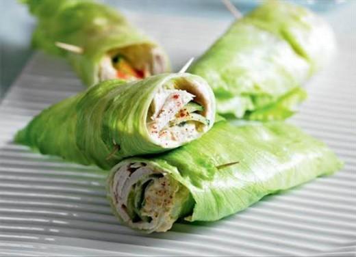 Turkey and Cucumber Lettuce Wrap