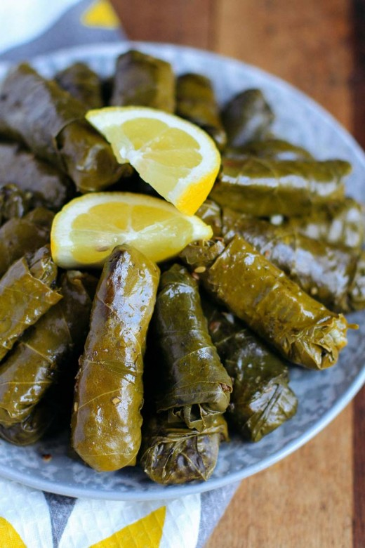 My mouth drools when I look at pictures of grape leaves. They are a great combination of savory with a nice touch of lemony tartness.