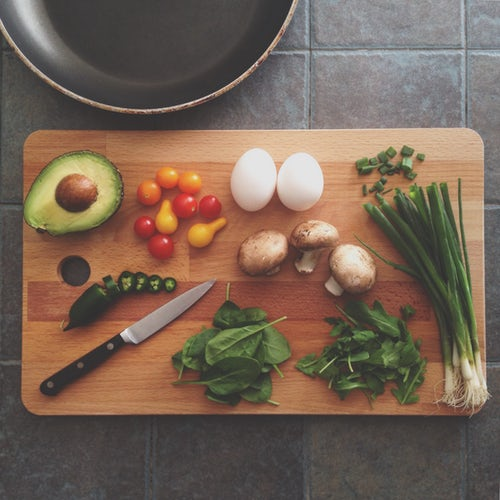 Fruits and vegetables are low in calories and should be varied and increased in a diet.
