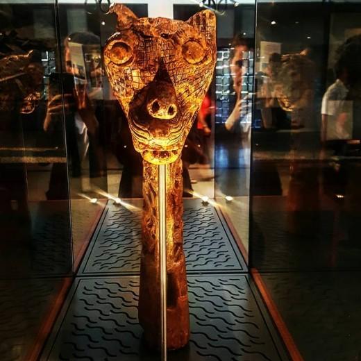 A viking figurehead at the Bergen Maritime Museum.