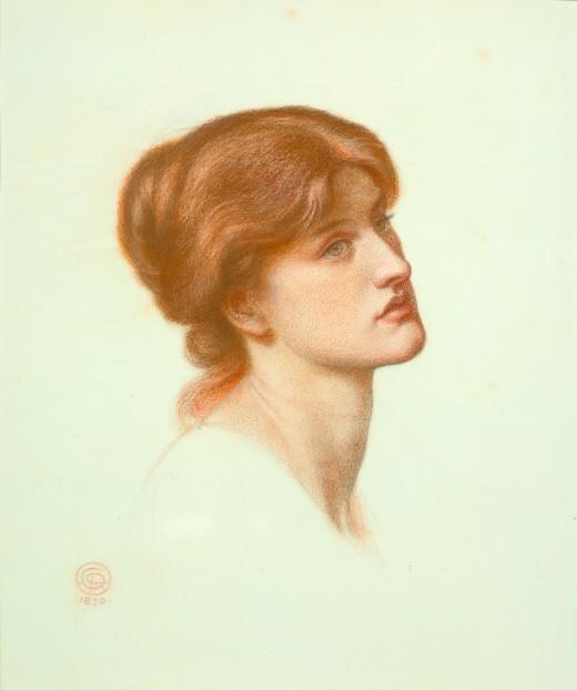 "Study for ""Dante's Dream"": Head of Alexa Wilding circa 1870"