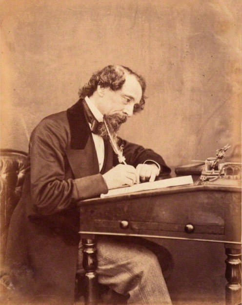 The Writer and Social Critic: Charles Dickens  circa 1858