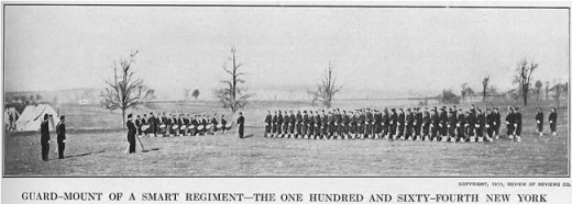 Troops of 164th NY gather for Guard Mounting