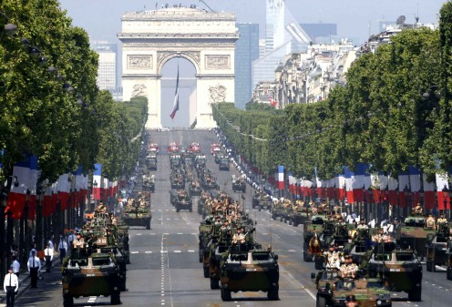 Bastille Day Parade in Modern France