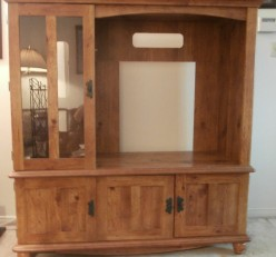 How to Paint Laminate Furniture: A Sauder TV Stand Before and After