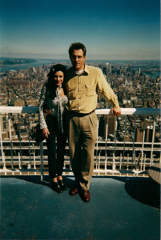 YOUR AUTHOR ATOP THE WORLD TRADE CENTER ONE MONTH BEFORE IT WAS DESTROYED BY TERRORISTS