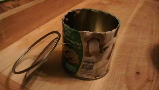 Can of mushrooms.