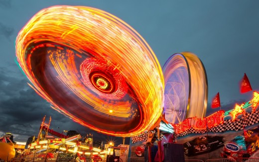 A slow shutter speed will cause a blurred effect