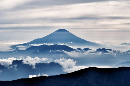 Other than Kaguya-Hime, there are several other Japanese folklore stories associated with magnificent Mount Fuji.