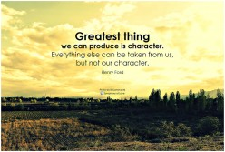 Your Character Is Your Destiny