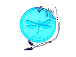 Dragonfly Suncatcher Made from 100% Recycled Glass - Made in USA (Dragonfly - Aqua Blue)