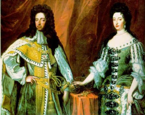 A painting of William III of Orange and his wife Mary.