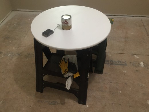 Painting table top.