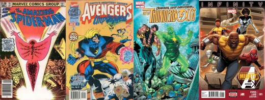Amazing Spider-Man Annual #16 - 1st appearance of Monica Rambeau and as Captain Marvel. Origin of her becoming Captian Marvel. Avengers: Unplugged #5 - 1st appearance as Photon. The New Thunderbolts #9 (2004) - 1st as Pulsar