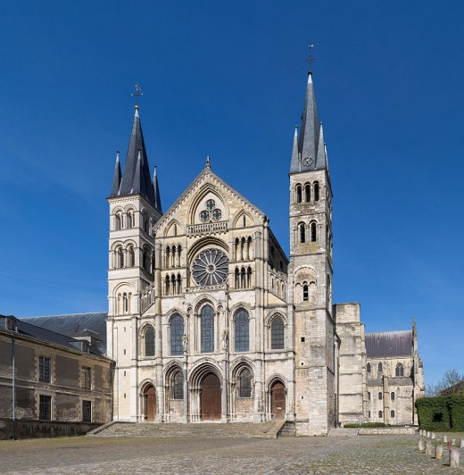 The Abbey of Saint-Remi located in Reims, France. It was originally founded as a chapel in the 6th century dedicated to St Christopher. Reconstruction began in 1005 CE. It is identified with Robert the Monk, or Robert of Reims.