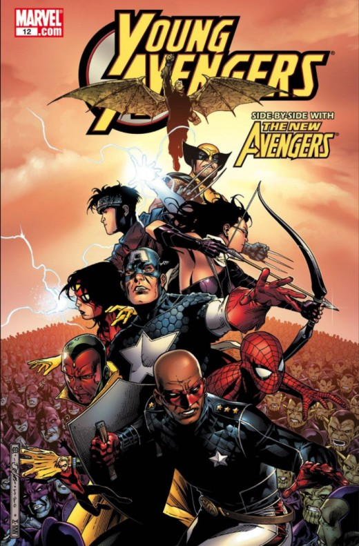 Young Avengers #12 - Kate Bishop becomes Hawkeye. Tommy Shepard becomes Speed.