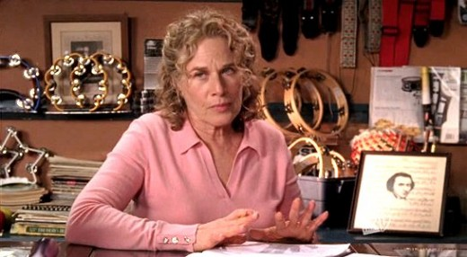 Carole King as music store owner Sophie Bloom.