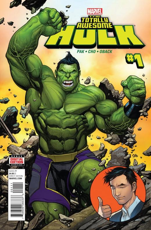 Totally Awesome Hulk #1 - 1st Amadeus Cho as Hulk or super-powered.
