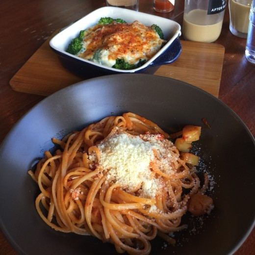 Spaghetti and other western dishes.