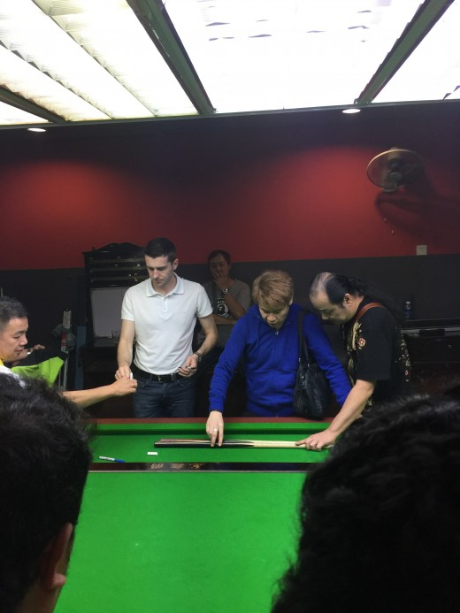 Yes I went all the way to Malacca to watch Mark Selby(Snooker Player Rank 1) play.