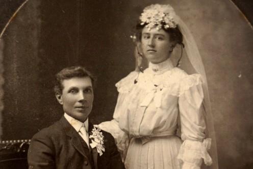 An 1890s Wedding Card