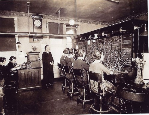 A typical 1890s Switchboard Exchange Setuup