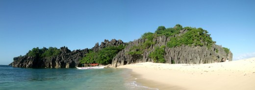 Lahus island, one of the small islands that comprise the municipality of Caramoan