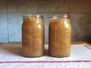 Applesauce in Mason Jars.