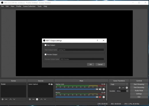 How to Start Streaming With Two Computers Using Ndi and Obs
