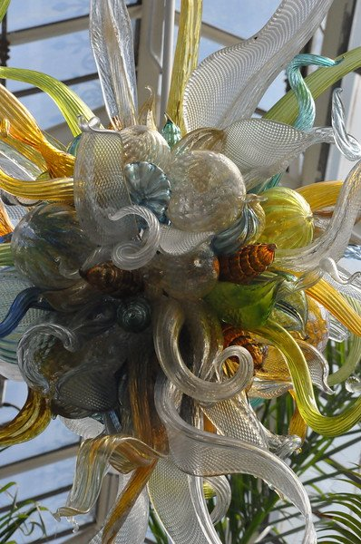 """Citron, Amber, and Teal Chandelier"" 2009 (Detail) Conservatory."