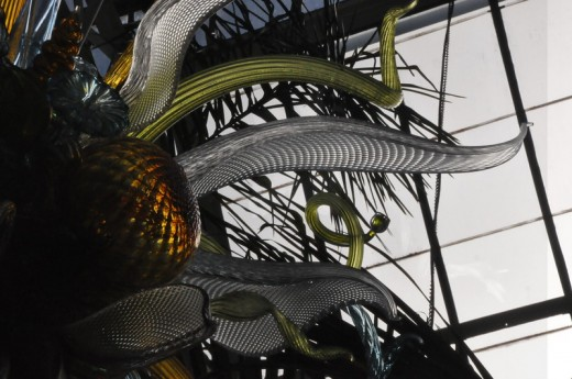 """Citron, Amber, and Teal Chandelier"" 2009 (Detail) Conservatory"