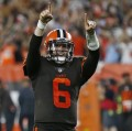 Browns with Baker Mayfield at QB win 21-17 for the 1st time since 12/24/16. Taylor exits with a concussion.