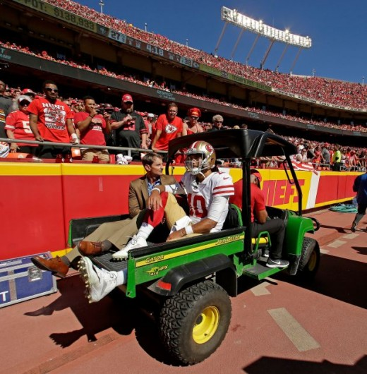 Jimmy G's season is done for the year after tearing his ACL against the Chiefs.