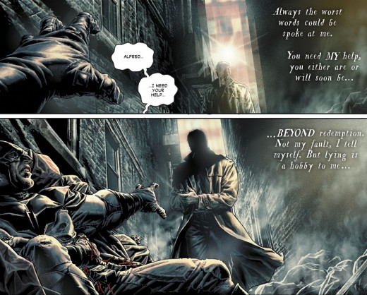 """Preview of """" Batman: Damned"""" seen in the pages of Justice League #6"""
