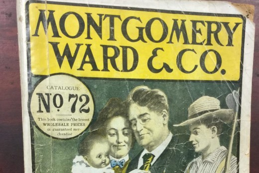In 1906, Americans frequently bought everything from household goods to clothing from Montgomery Ward mail-order catalogs.