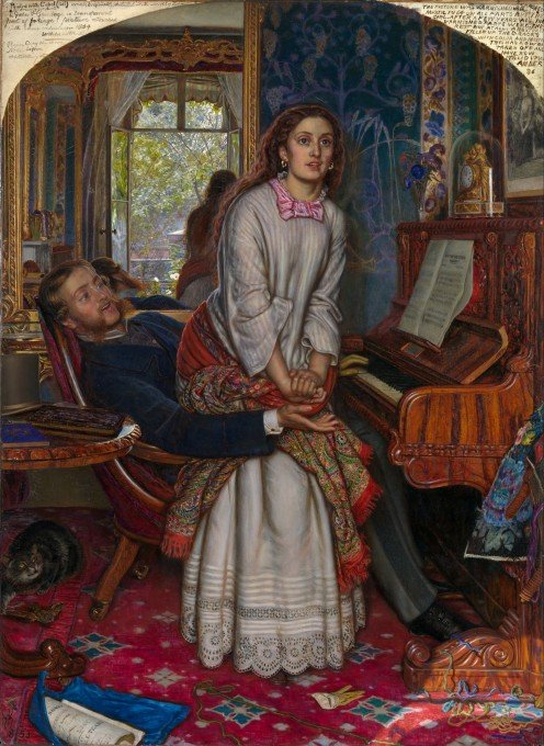 The Awakening Conscience (Annie Miller's Figure With Fanny Waugh's Face)   William Holman Hunt   circa 1853