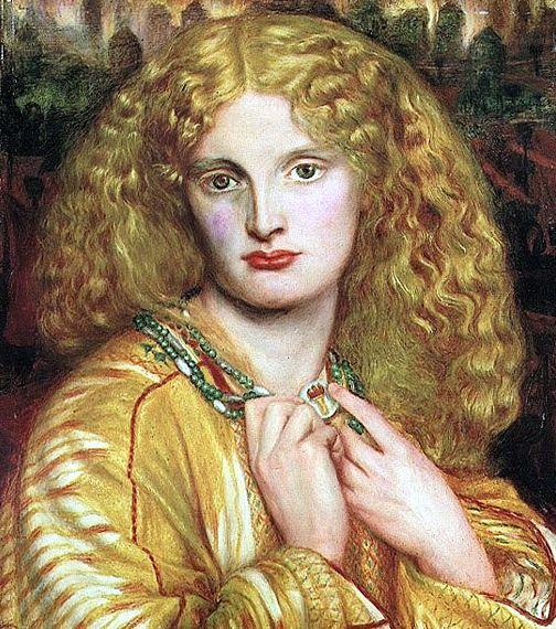 Annie as Helen of Troy Dante Gabriel Rossetti