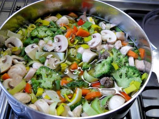 Wonderful healthy homemade vegetable soup
