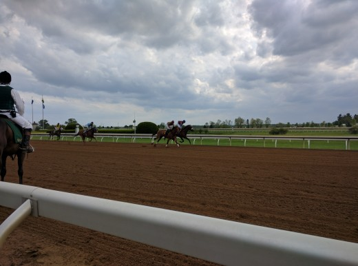This picture was taken at Keeneland racetrack in Kentucky.