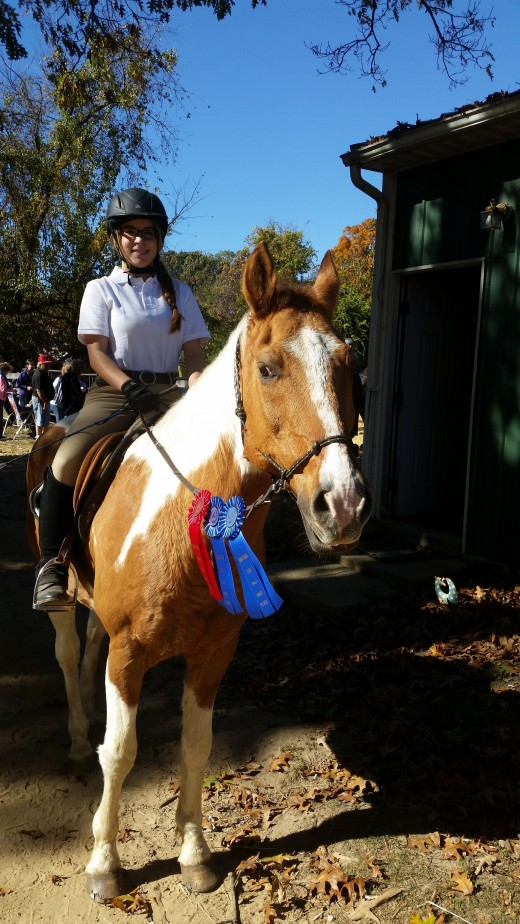 Chaps looking good in his ribbons!